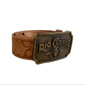 Vintage Tooled Belt w/ Rio Grand Buckle
